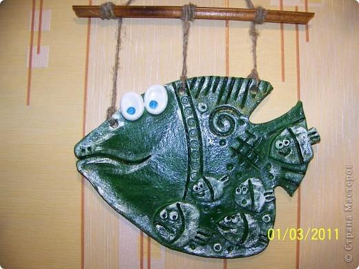 Вот такая денежная рыбка плавает теперь у меня в стайке. Спасибо за МК http://stranamasterov.ru/node/56136 фото 2