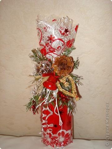Эту корзиночку я делала для мамы буквально перед выходом в гости минут за 20... Самая первая поделка. Основа - деревянная корзиночка из-под искусственных цветов... фото 10