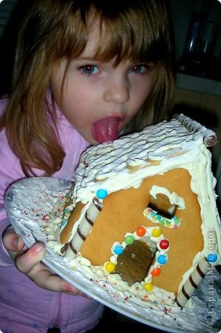Решили с дочей впервые попробовать испечь пряничный домик, и вот что у нас из этого вышло!! фото 2
