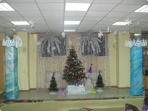 Новогодний зал фото 1