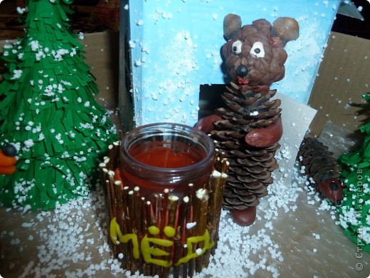 мишка с мёдом