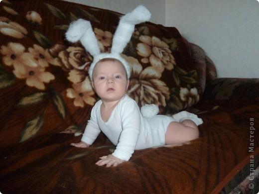 Костюм зайца для мальчика своими руками фото