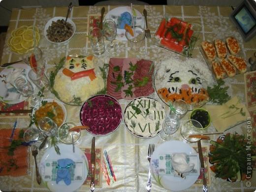 Салатик Кот из крабовых палочек с креветками фото 6
