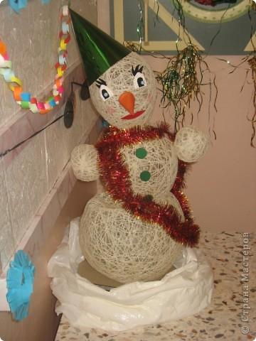 Ну вот и наш Снеговичок!!!