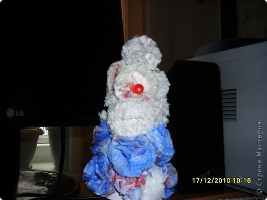 Снеговик, поделка к Новому году фото 4