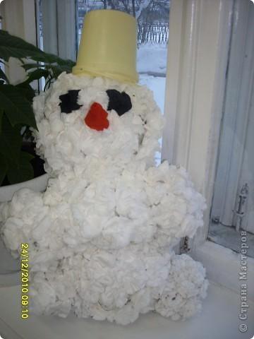 Снеговик, поделка к Новому году фото 1
