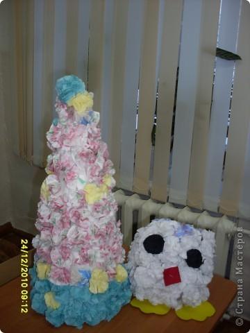Снеговик, поделка к Новому году фото 2