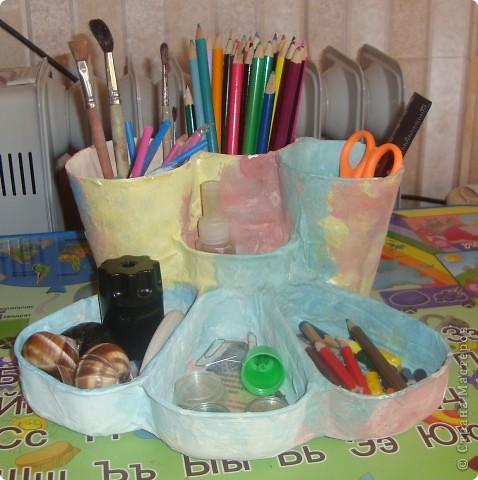 Вот такой органайзер получился у нас с дочкой. Теперь ей есть куда все свои карандаши складывать. фото 2