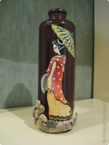 Первая мамина бутылка с солью. Картинка - масляные краски фото 4