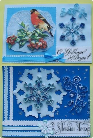 Своим коллегам - учителям и воспитателям  подарила вот такие открытки с зимними и новогодними символами. фото 1