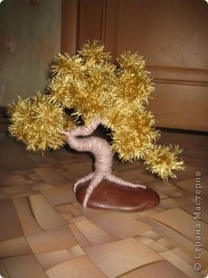 Дерево из ниток
