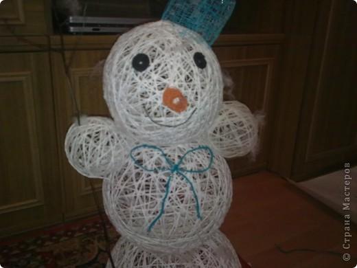 а вот и мой снеговик фото 1