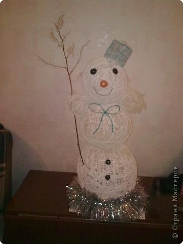 а вот и мой снеговик фото 3