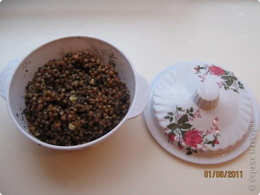 Решила сделать кутью(сочиво) из пшеницы. Для этого нам нужно пшеница-2 стакана, мак-0.5 стакана, орехи-0.5 стакана, сахар-0.5 стакана и ступка. фото 5