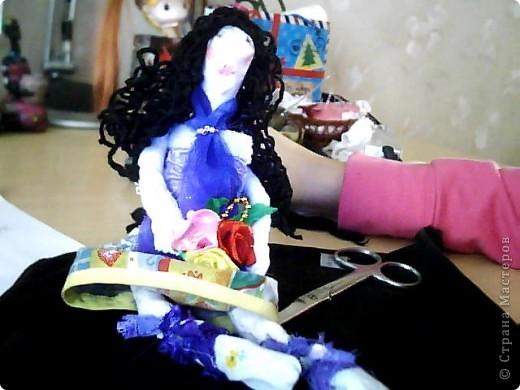 ну вот такая у меня первая кукла)  фото 2
