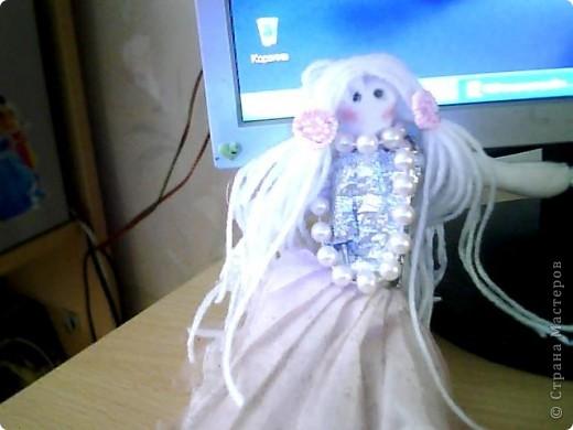 ну вот такая у меня первая кукла)  фото 3