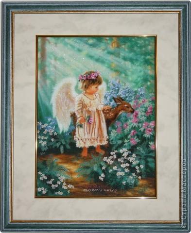 """""""Мой ангел"""". вышивала в подарок самому дорогому человеку - моей мамочке фото 1"""
