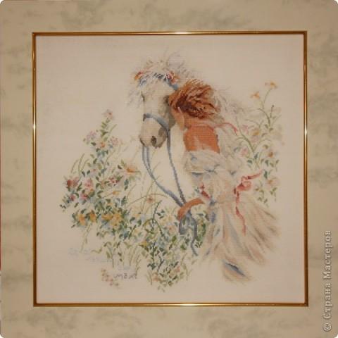 """""""Мой ангел"""". вышивала в подарок самому дорогому человеку - моей мамочке фото 2"""