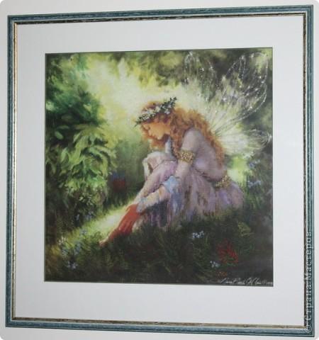 """""""Мой ангел"""". вышивала в подарок самому дорогому человеку - моей мамочке фото 4"""