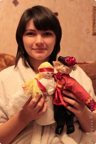 """Подружка попросила сшить кукол на свадебную тему. В технике """"Тряпичная кукла"""" фото 1"""