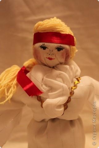 """Подружка попросила сшить кукол на свадебную тему. В технике """"Тряпичная кукла"""" фото 3"""