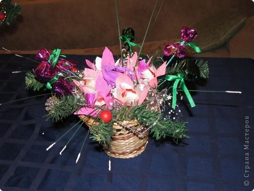 Вот две недели делали подарки для родных к Новому Году. Всего получилось 17 корзиночек. фото 2
