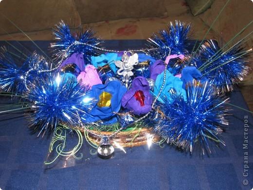 Вот две недели делали подарки для родных к Новому Году. Всего получилось 17 корзиночек. фото 5
