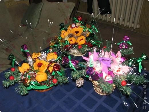 Вот две недели делали подарки для родных к Новому Году. Всего получилось 17 корзиночек. фото 6