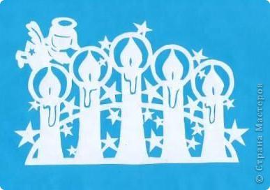 Поделка изделие Новый год Вырезание Новогодние вытынанки Бумага фото 1