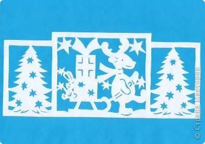 Поделка изделие Новый год Вырезание Новогодние вытынанки Бумага фото 2