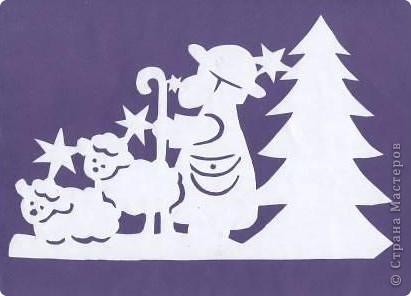 Поделка изделие Новый год Вырезание Новогодние вытынанки Бумага фото 4