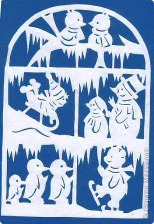 Поделка изделие Новый год Вырезание Новогодние вытынанки Бумага фото 37
