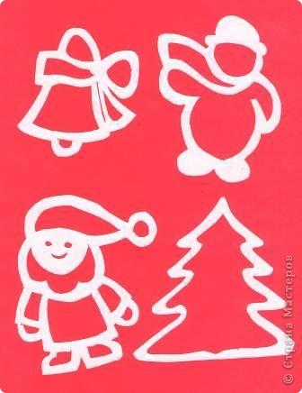 Поделка изделие Новый год Вырезание Новогодние вытынанки Бумага фото 11
