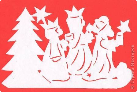 Поделка изделие Новый год Вырезание Новогодние вытынанки Бумага фото 38