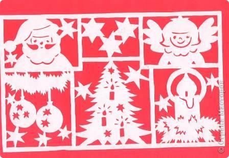 Поделка изделие Новый год Вырезание Новогодние вытынанки Бумага фото 14