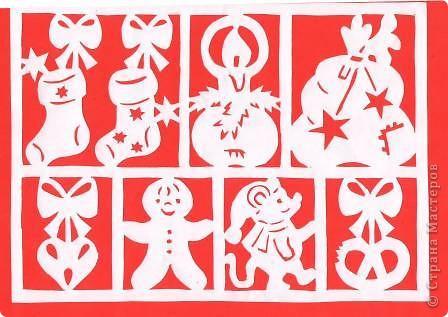 Поделка изделие Новый год Вырезание Новогодние вытынанки Бумага фото 39