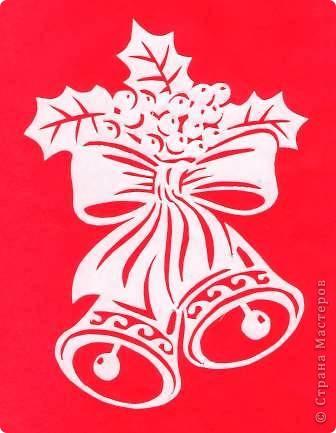 Поделка изделие Новый год Вырезание Новогодние вытынанки Бумага фото 18