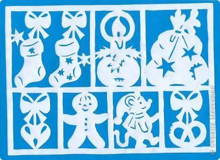 Поделка изделие Новый год Вырезание Новогодние вытынанки Бумага фото 24