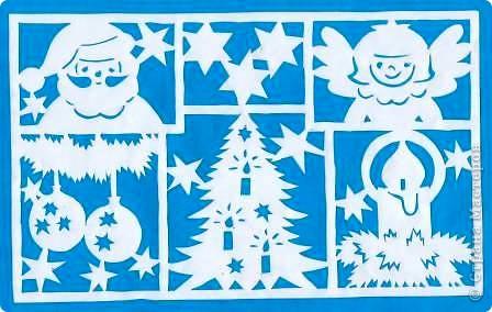 Поделка изделие Новый год Вырезание Новогодние вытынанки Бумага фото 25