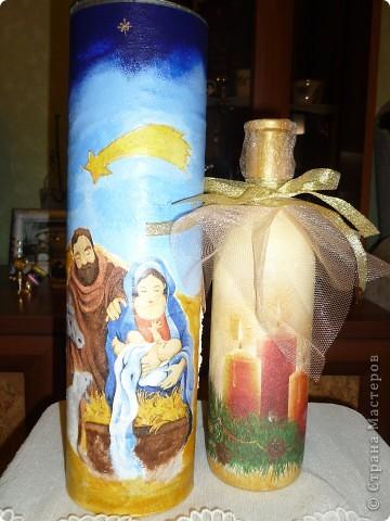 подарок на День рождения в Рождество,грунт,,акриловые краски,салфетка,лак для саун,фатин,лента фото 2