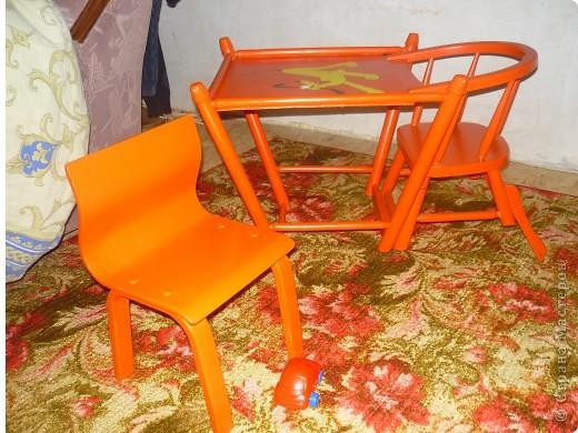 Сначала был обычный некрасивый стульчик, я раскрасила фото 3