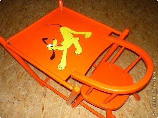 Сначала был обычный некрасивый стульчик, я раскрасила фото 1