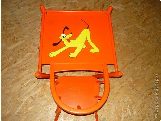Сначала был обычный некрасивый стульчик, я раскрасила фото 2