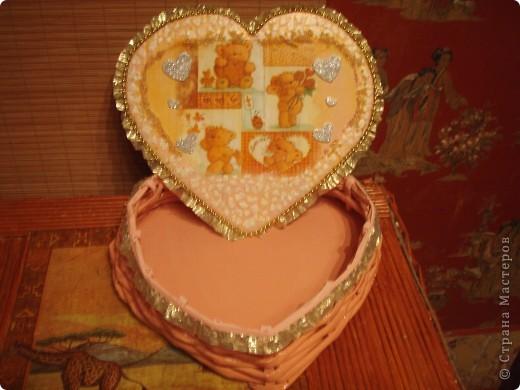 Вот такая коробочка для подарка на Валентиинов день. фото 2