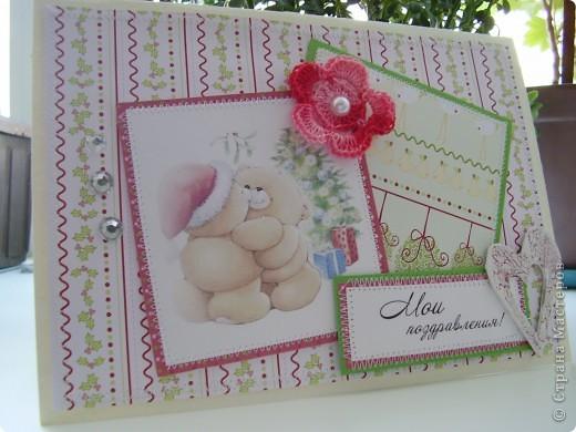 Еще одна партия новогодних открыток. Сразу скажу, еще не последняя :). И так, первая  - нежно-любовная для одного очень-очень хорошего человека, у которого день рождения на Рождество.  фото 1