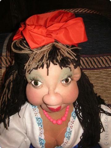 Шаржевая портретная кукла  выполнена в технике скульптурный текстиль фото 1