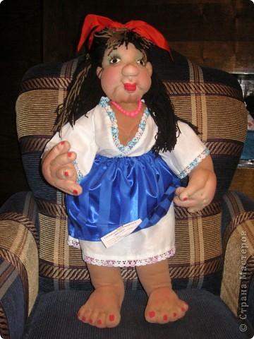 Шаржевая портретная кукла  выполнена в технике скульптурный текстиль фото 2