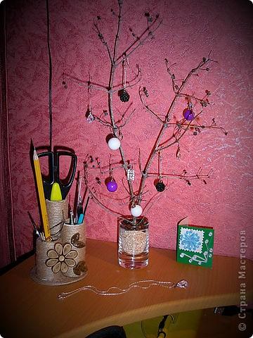 Деревце для серёжек и всяких украшений:)