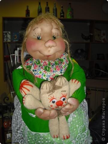 Шаржевая портретная кукла  выполнена в технике скульптурный текстиль фото 3