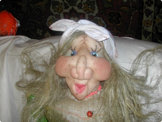 Шаржевая портретная кукла  выполнена в технике скульптурный текстиль фото 6